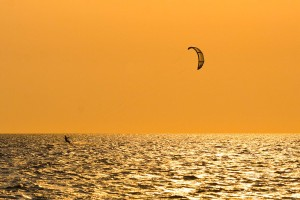 Kite Surfer in the Outer Banks, North Carolina